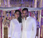 Kareena Kapoor Khan kisses hubby Saif Ali Khan after cake-cutting at Pataudi Palace